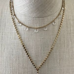 White House Black Market Jewelry - WHBM Gold Larat Double Chain Necklace